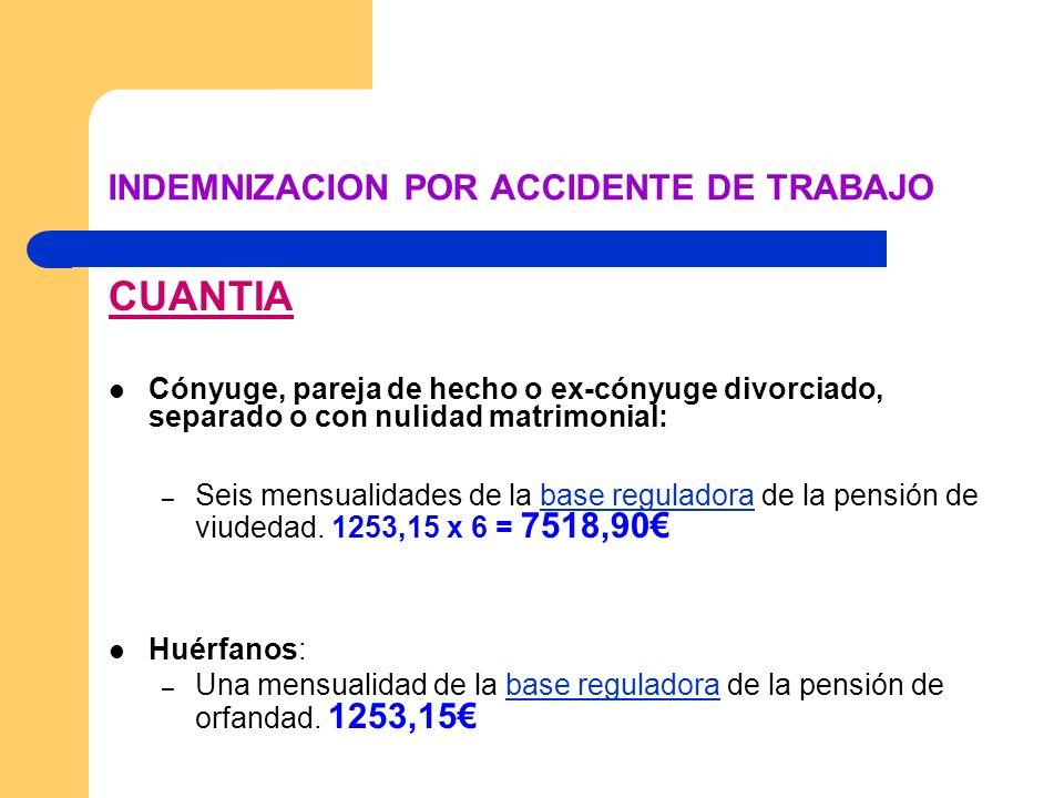 INDEMNIZACION POR ACCIDENTE DE TRABAJO