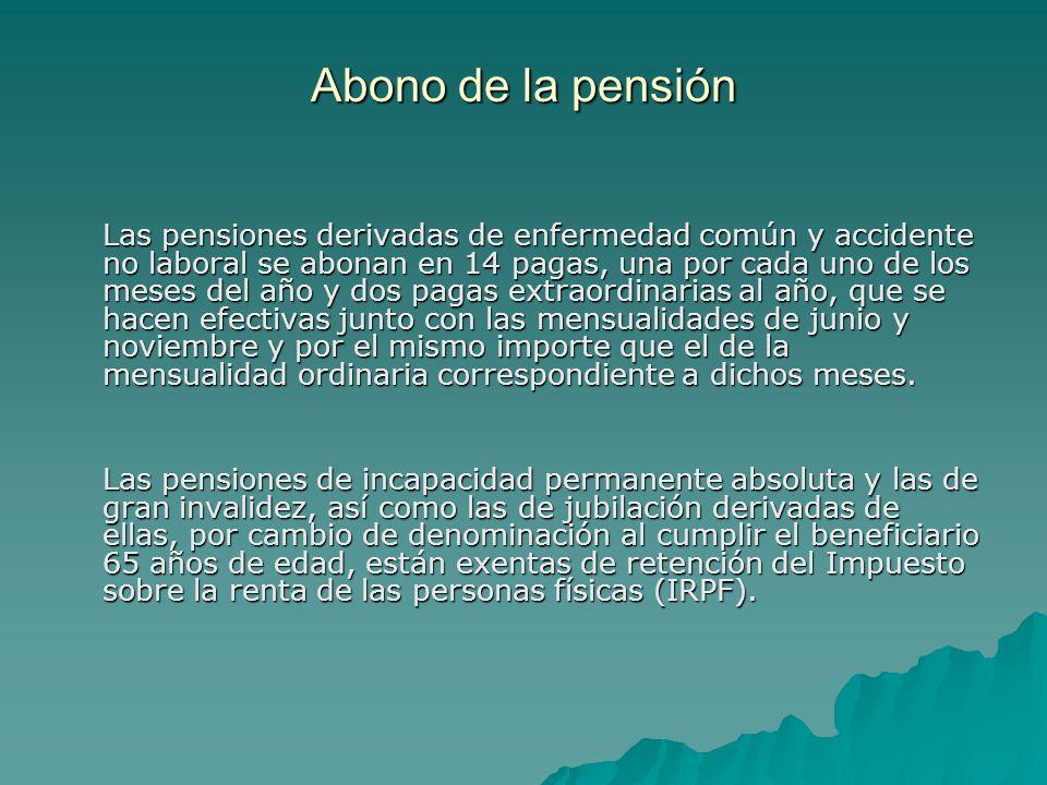 Abono de la pensión