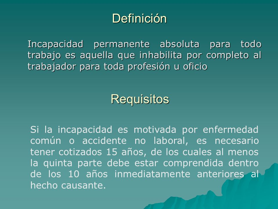 Definición Requisitos