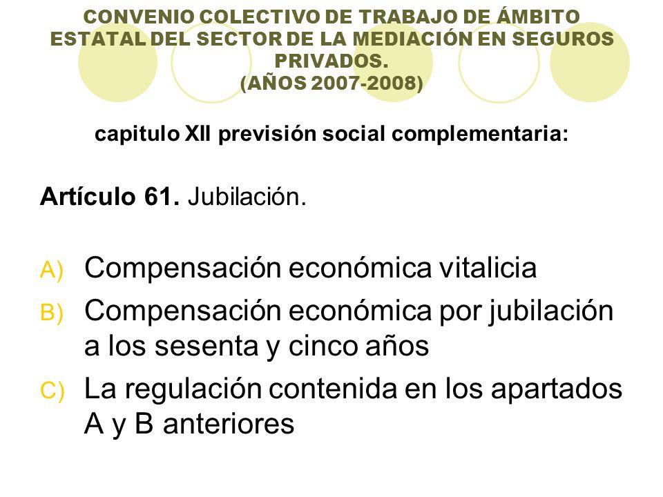 capitulo XII previsión social complementaria: