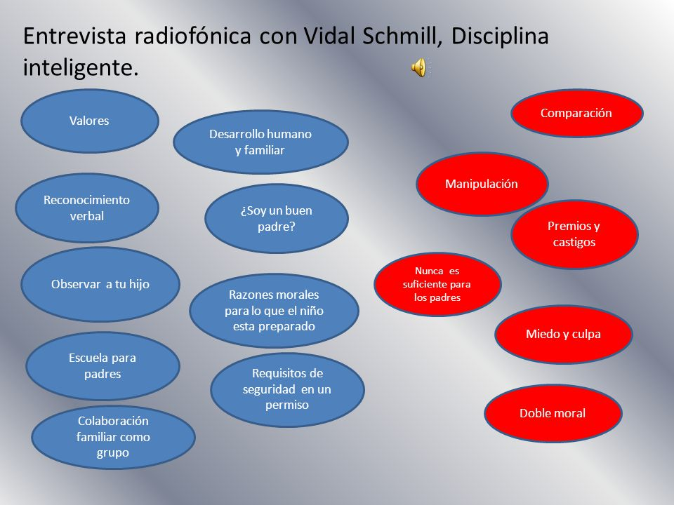 Entrevista radiofónica con Vidal Schmill, Disciplina inteligente.