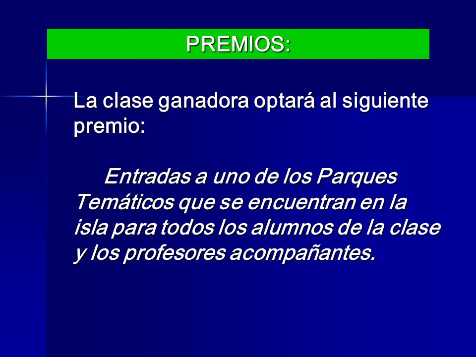 PREMIOS:
