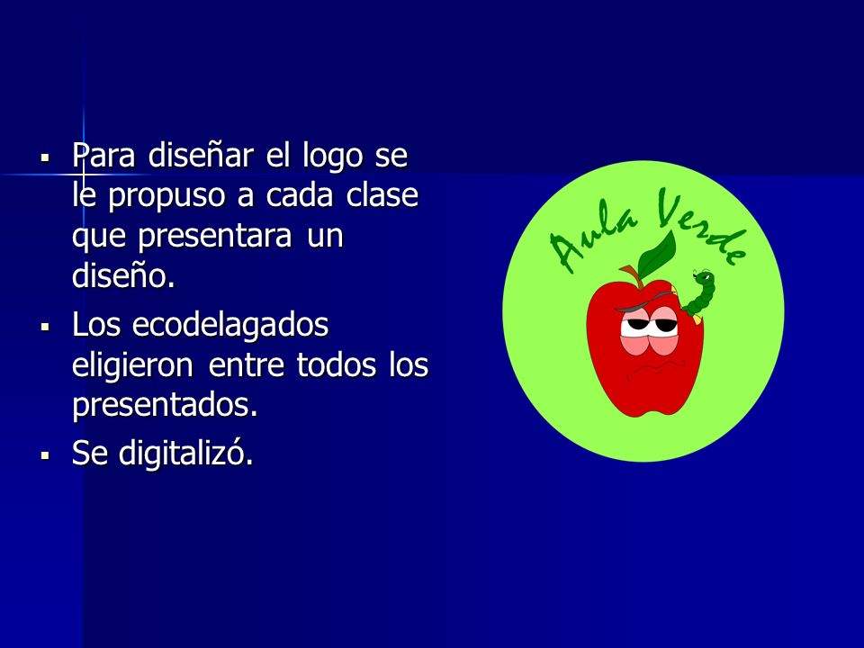 Para diseñar el logo se le propuso a cada clase que presentara un diseño.