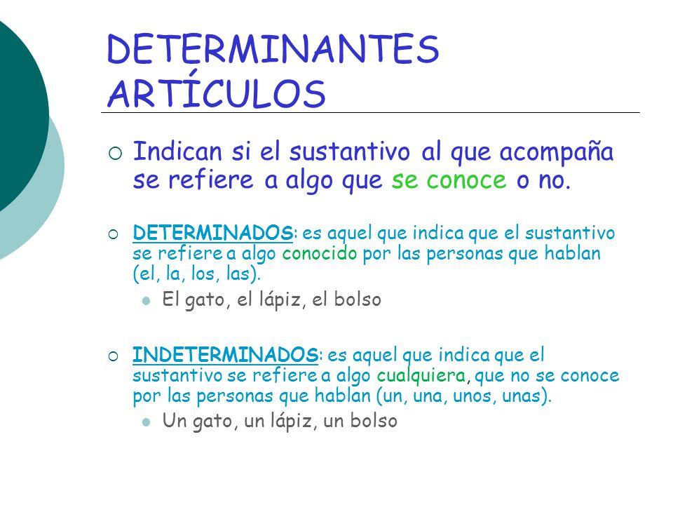 DETERMINANTES ARTÍCULOS