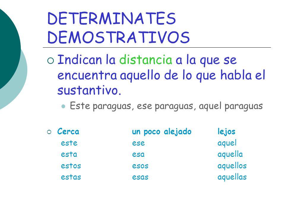 DETERMINATES DEMOSTRATIVOS