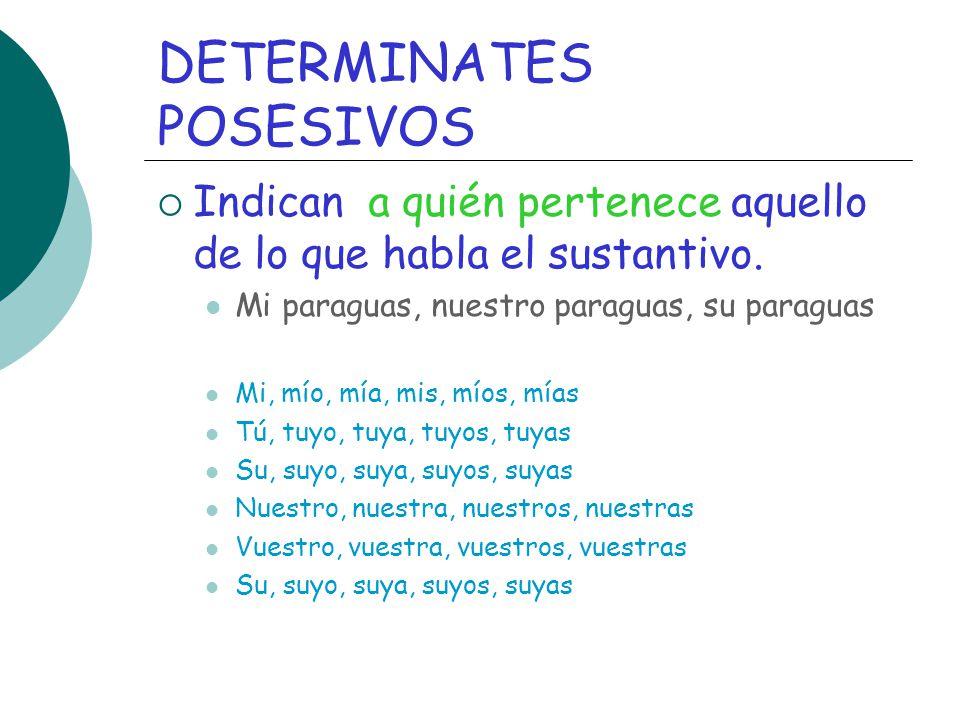 DETERMINATES POSESIVOS