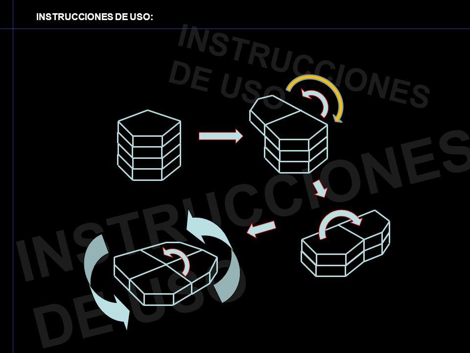 INSTRUCCIONES DE USO: INSTRUCCIONES DE USO INSTRUCCIONES DE USO