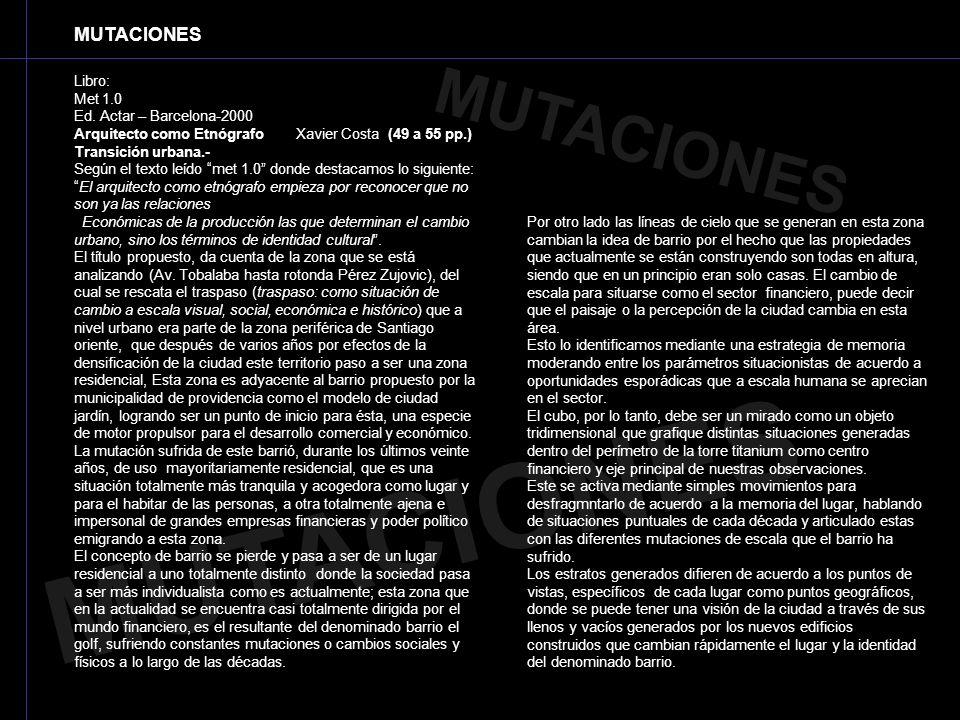 MUTACIONES MUTACIONES MUTACIONES Libro: Met 1.0