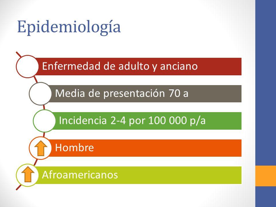 Epidemiología Enfermedad de adulto y anciano