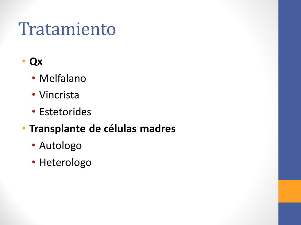 Tratamiento Qx Melfalano Vincrista Estetorides