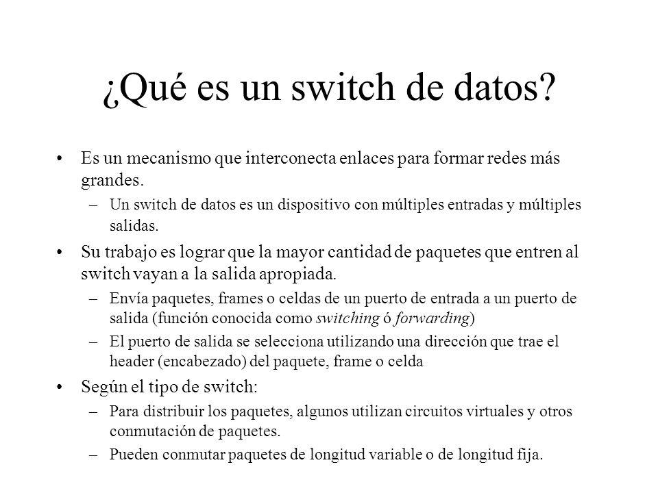 ¿Qué es un switch de datos