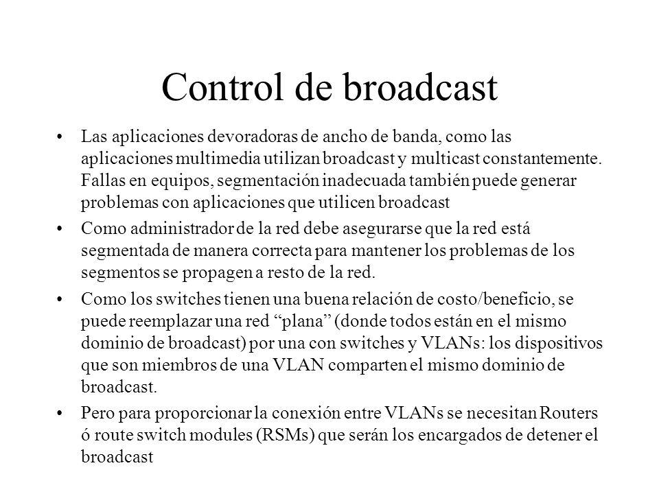 Control de broadcast