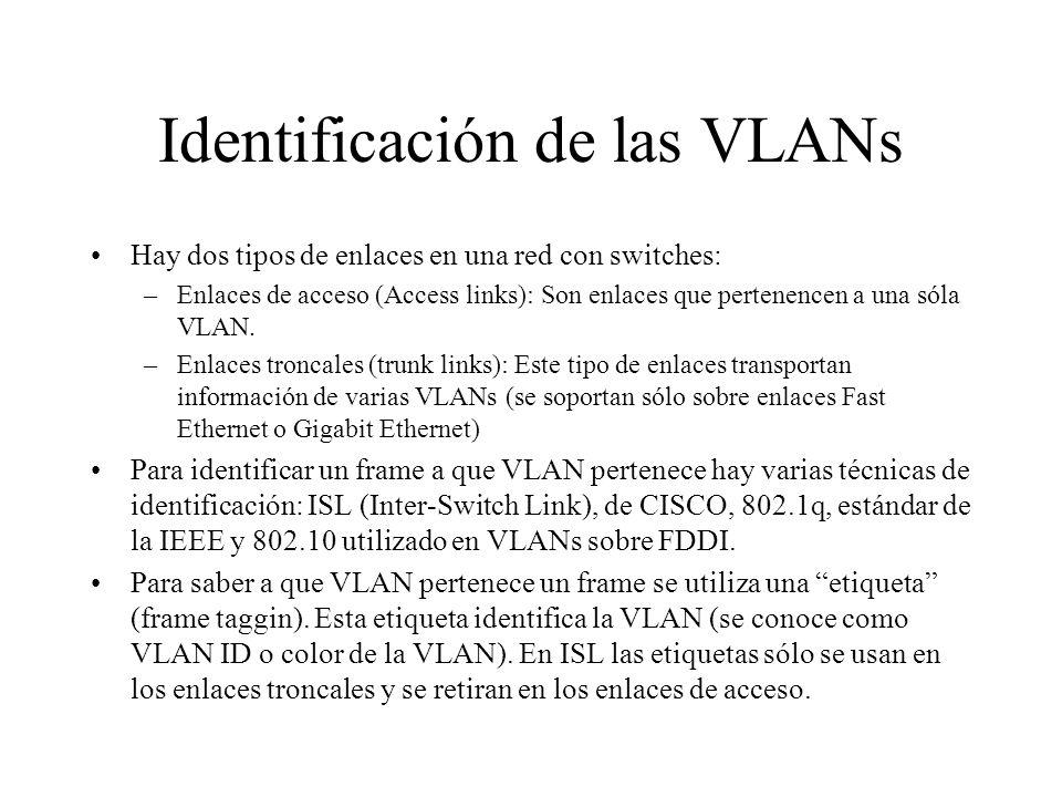 Identificación de las VLANs