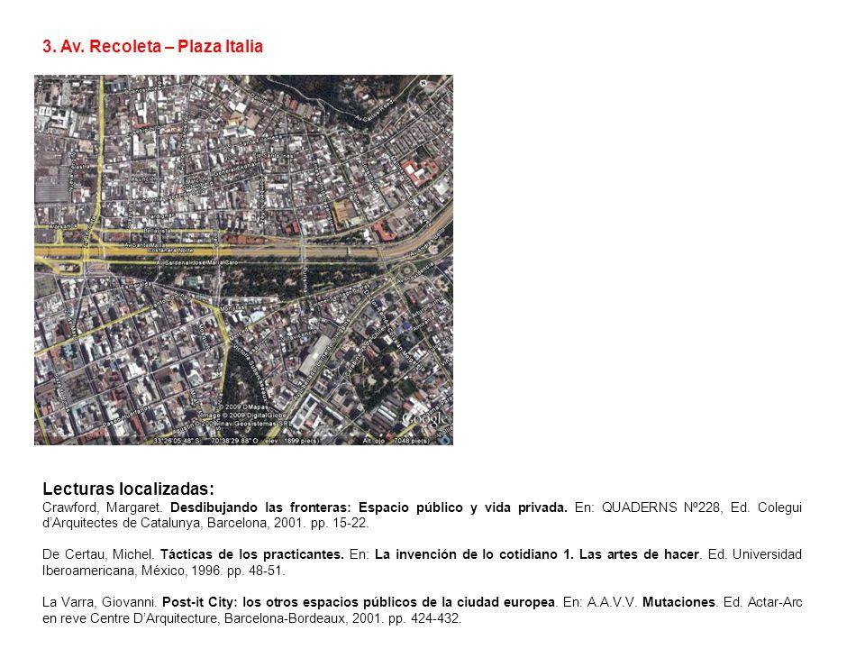 3. Av. Recoleta – Plaza Italia