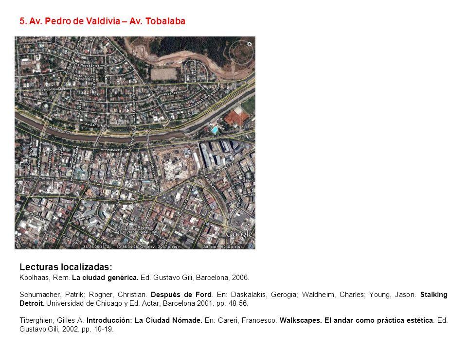 5. Av. Pedro de Valdivia – Av. Tobalaba