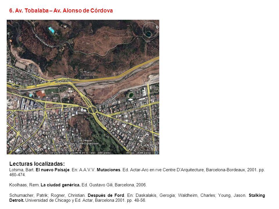 6. Av. Tobalaba – Av. Alonso de Córdova