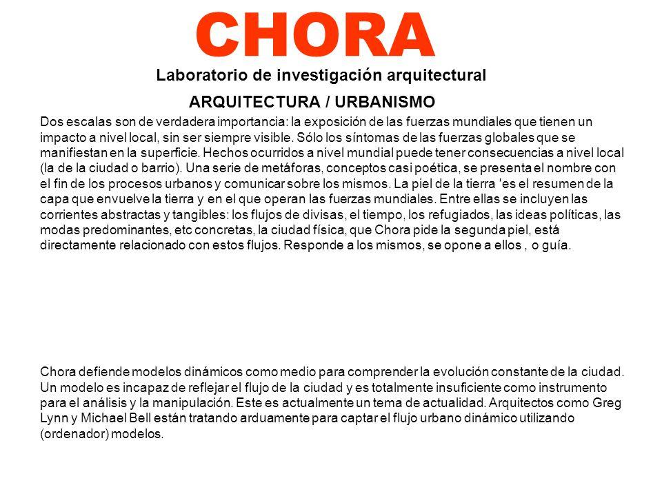 CHORA Laboratorio de investigación arquitectural