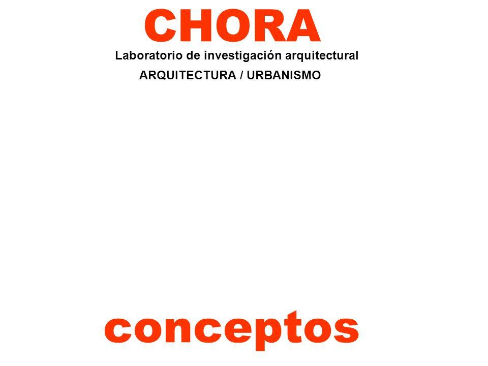 CHORA conceptos Laboratorio de investigación arquitectural