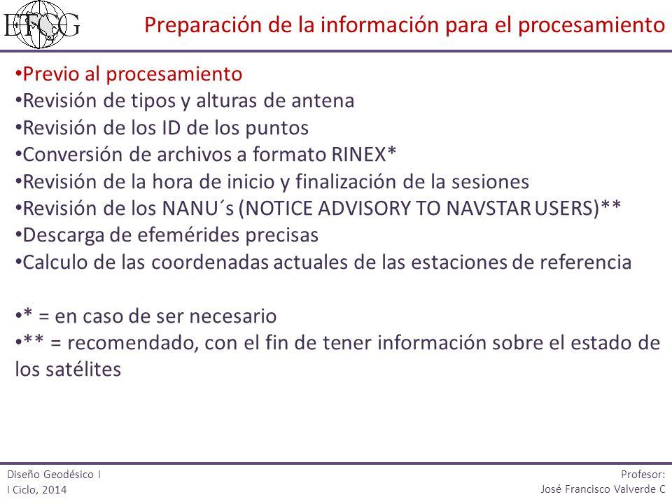 Preparación de la información para el procesamiento