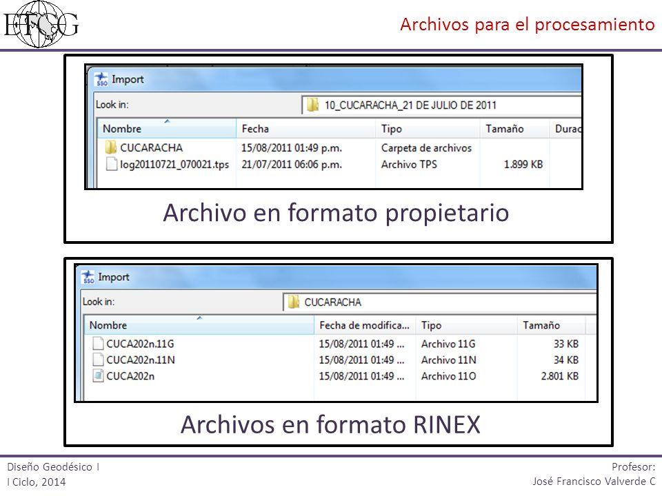 Archivo en formato propietario