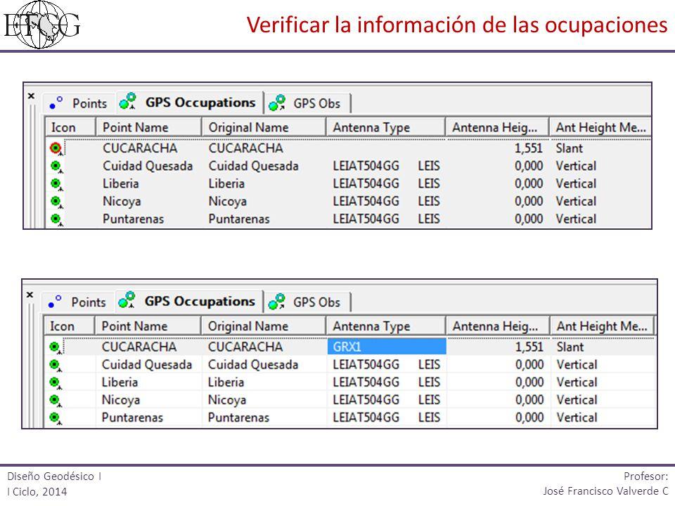 Verificar la información de las ocupaciones