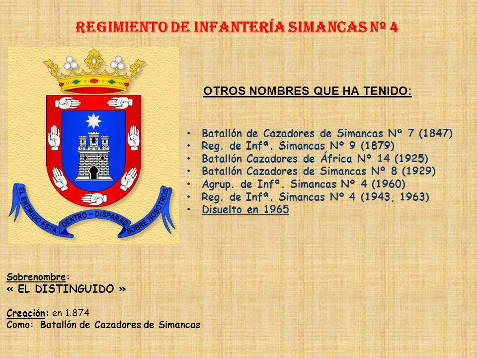 Regimiento de Infantería SIMANCAS nº 4