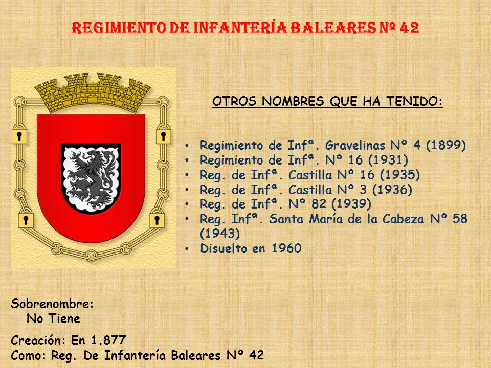 Regimiento de Infantería baleares nº 42