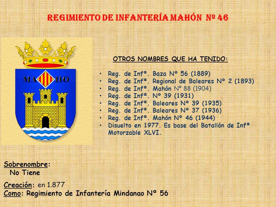 Regimiento de Infantería mahón nº 46