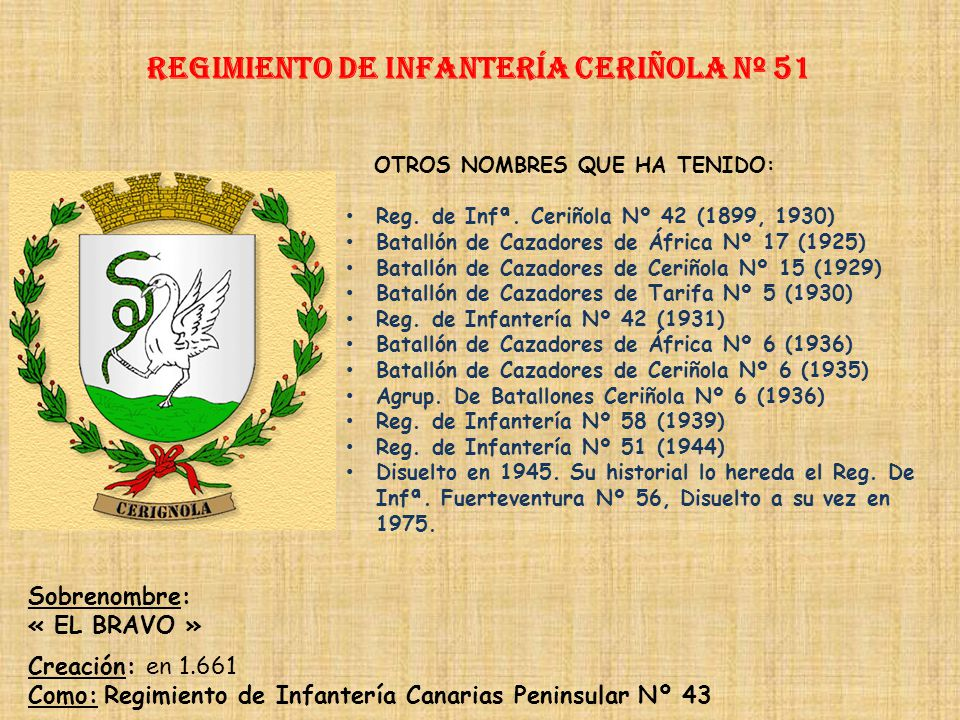 Regimiento de Infantería ceriñola nº 51