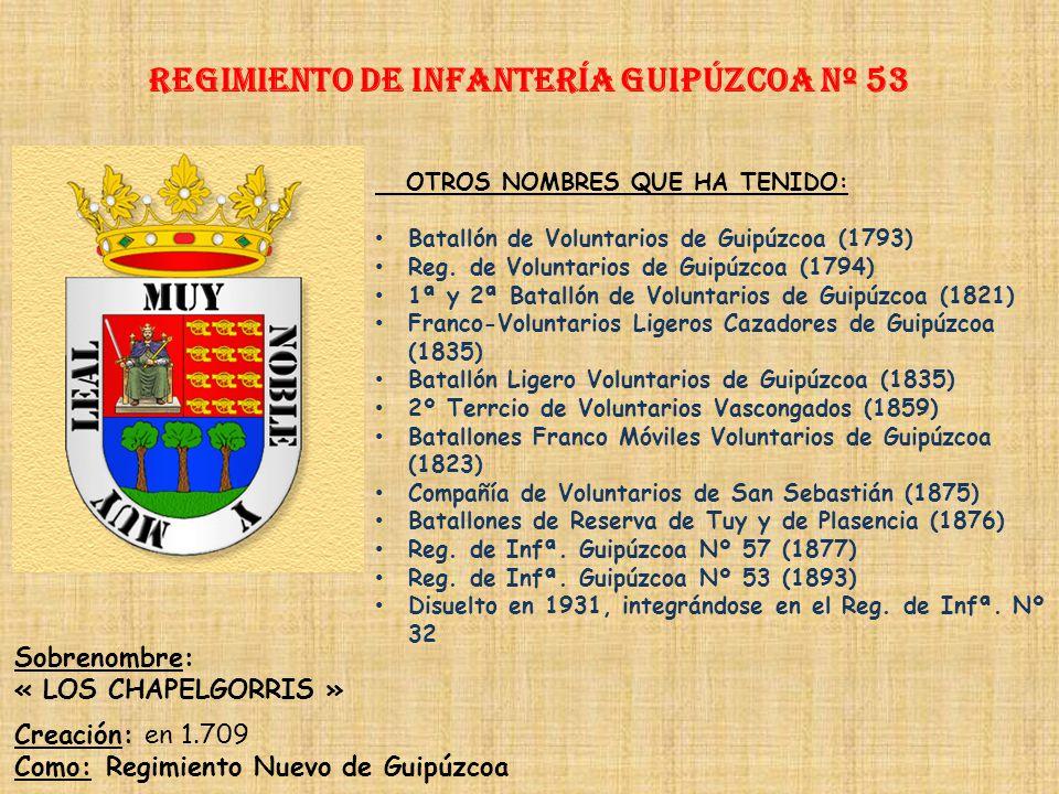 Regimiento de Infantería guipúzcoa nº 53
