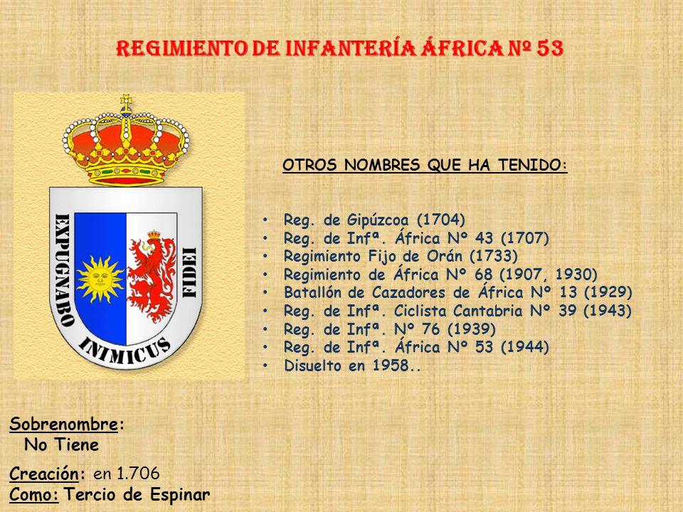 Regimiento de Infantería áfrica nº 53