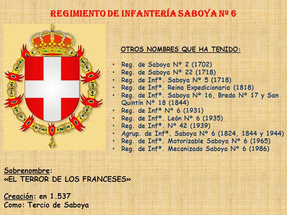 Regimiento de Infantería SABOYA nº 6