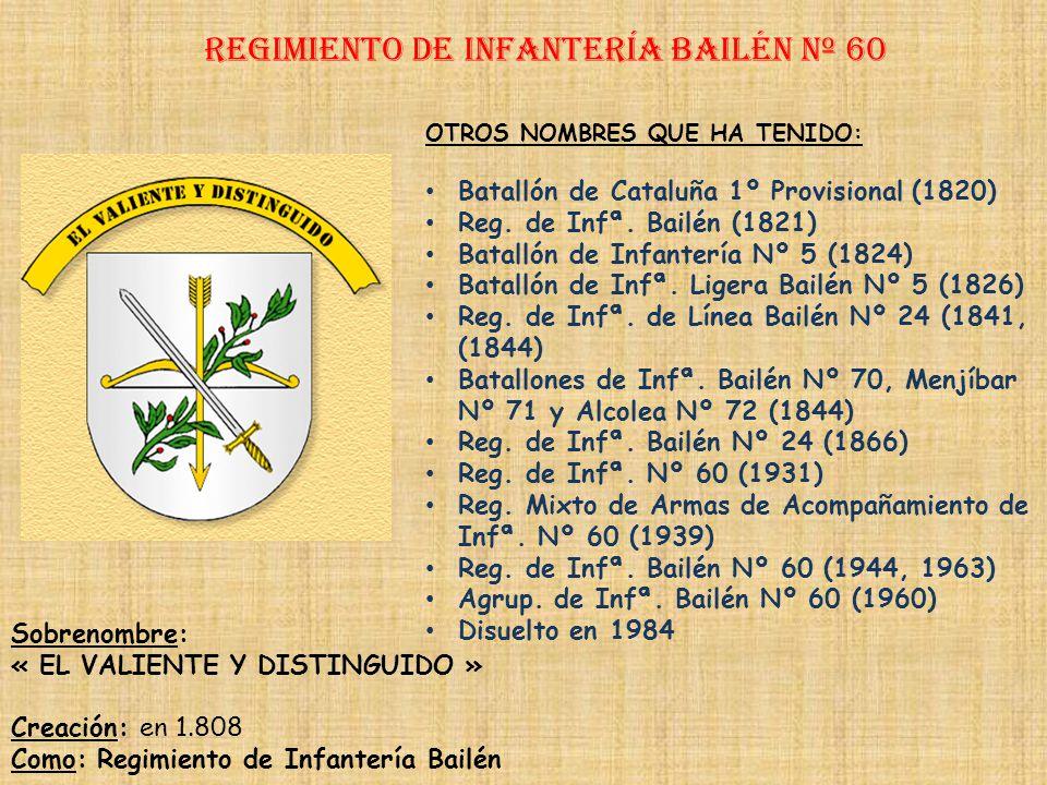 Regimiento de Infantería bailén nº 60