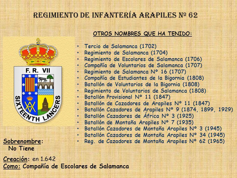 Regimiento de Infantería arapiles nº 62