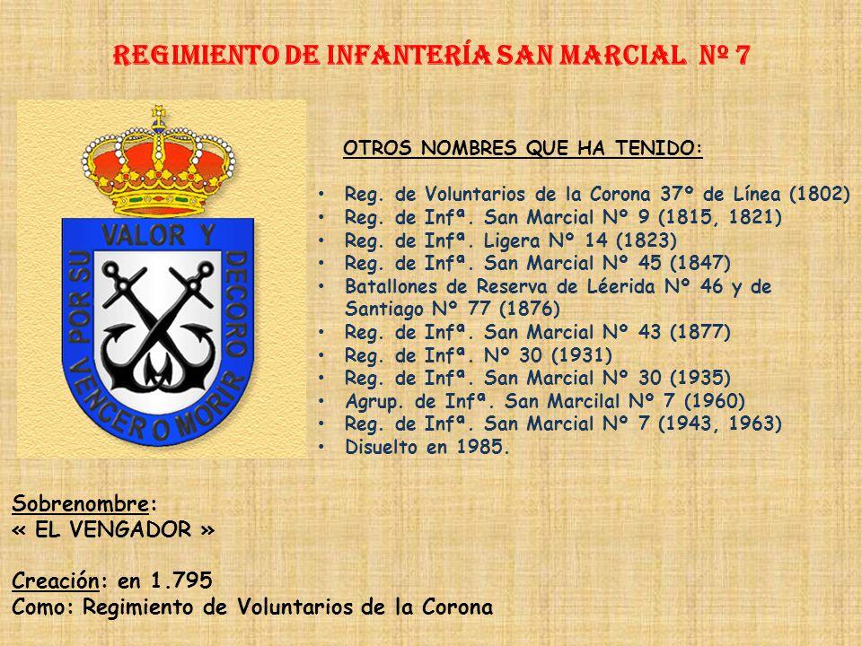 Regimiento de Infantería SAN MARCIAL nº 7