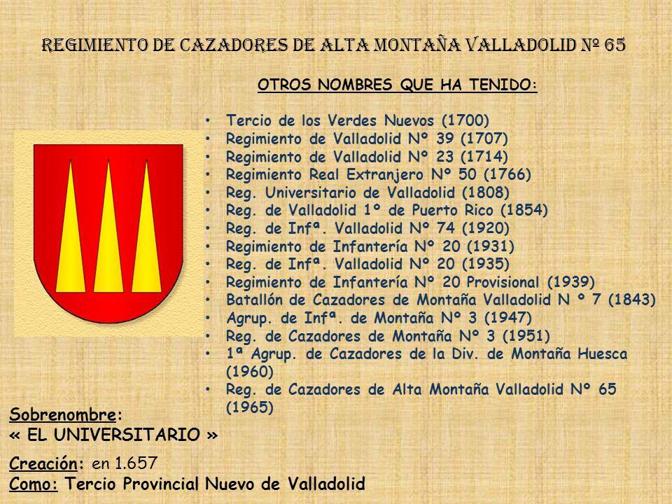 Regimiento de cazadores de alta montaña valladolid nº 65