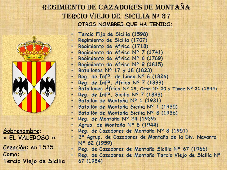 Regimiento de cazadores de montaña tercio viejo de sicilia nº 67