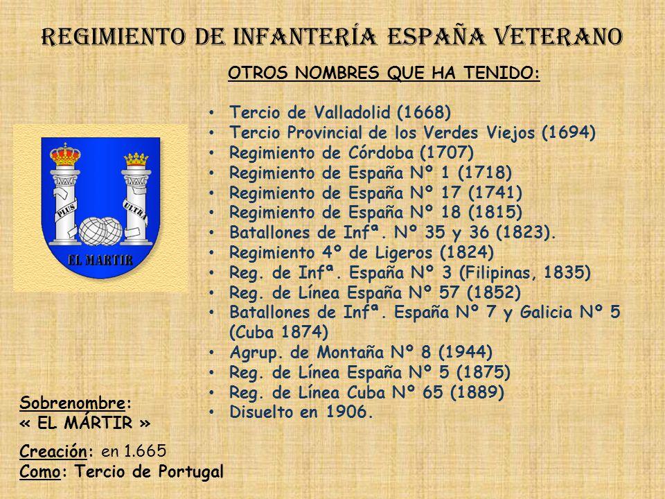 Regimiento de infantería españa veterano