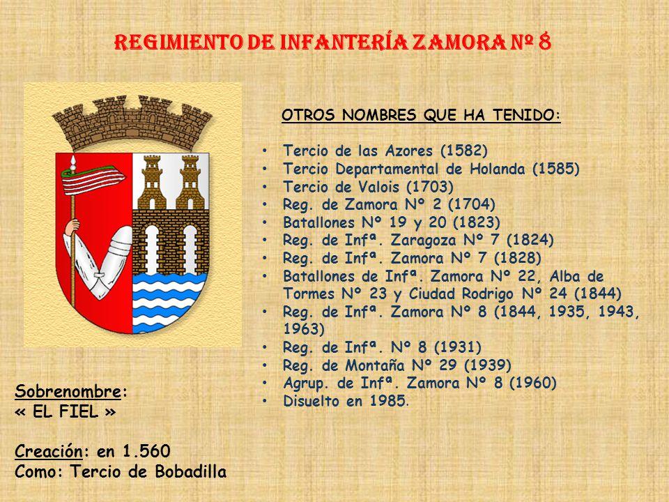 Regimiento de Infantería ZAMORA nº 8