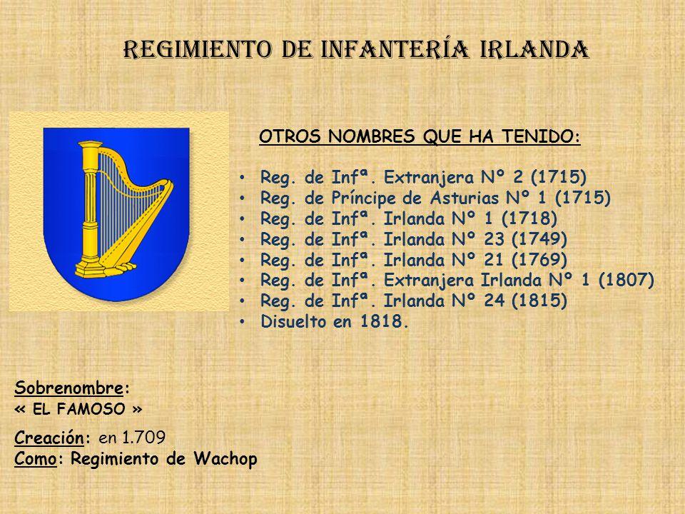 Regimiento de infantería irlanda