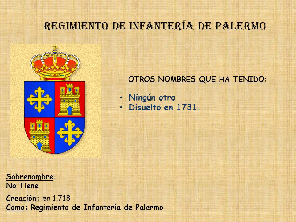 Regimiento de infantería de palermo