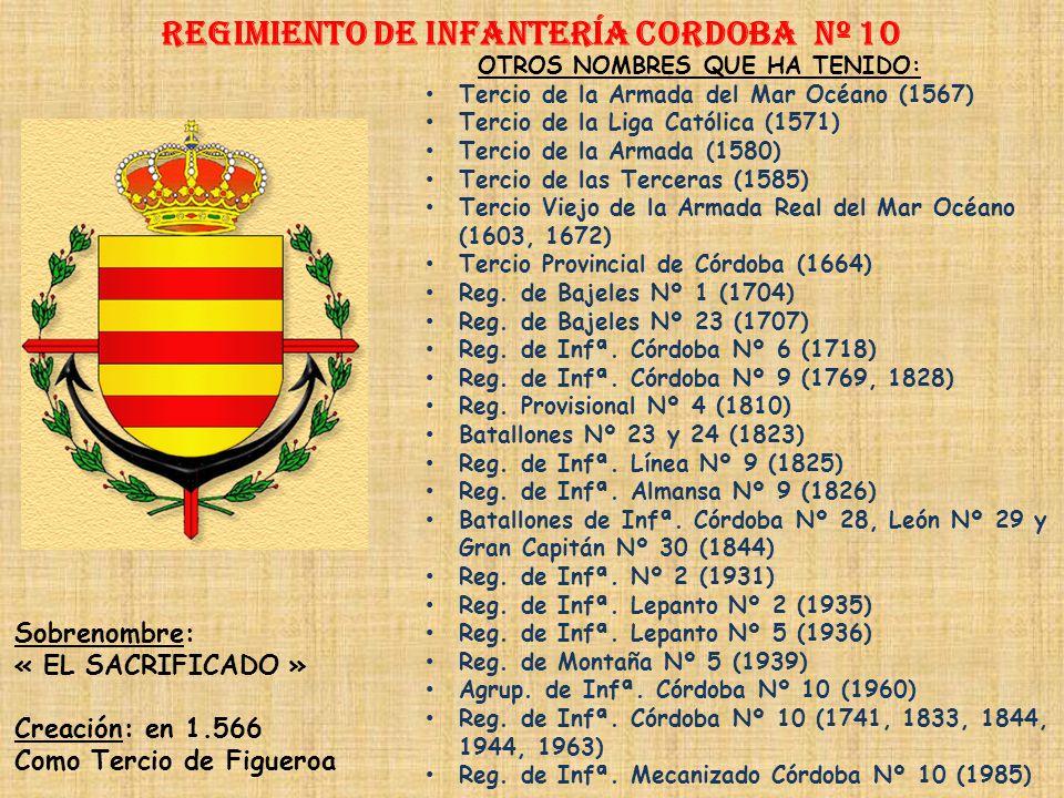 Regimiento de Infantería CORDOBA nº 10