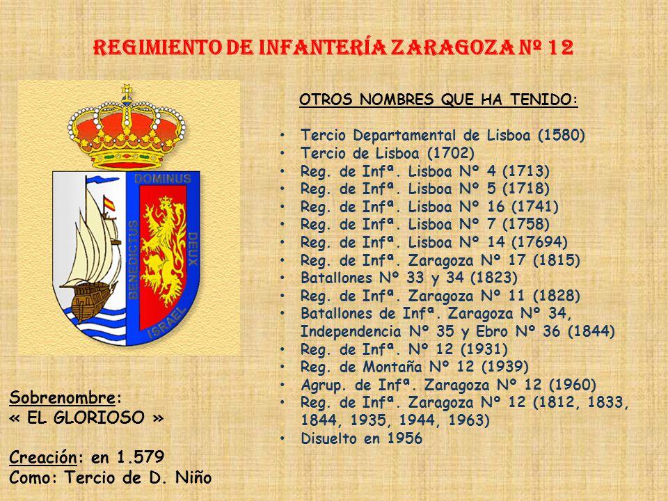 Regimiento de Infantería ZARAGOZA nº 12