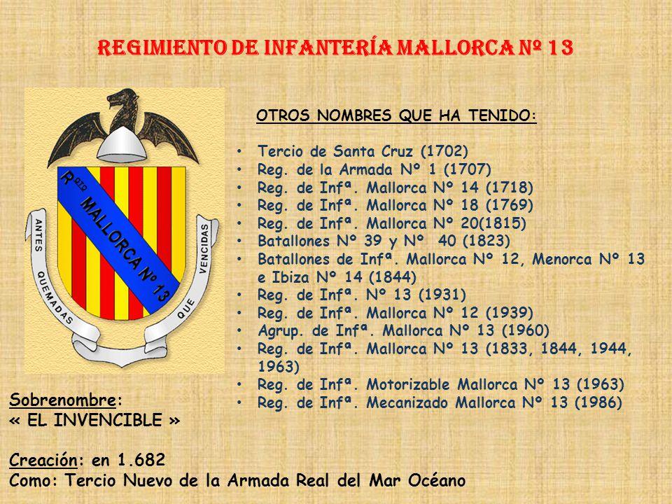 Regimiento de Infantería MALLORCA nº 13
