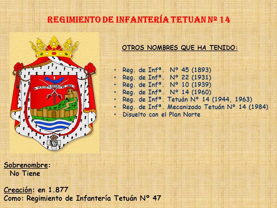 Regimiento de Infantería TETUAN nº 14