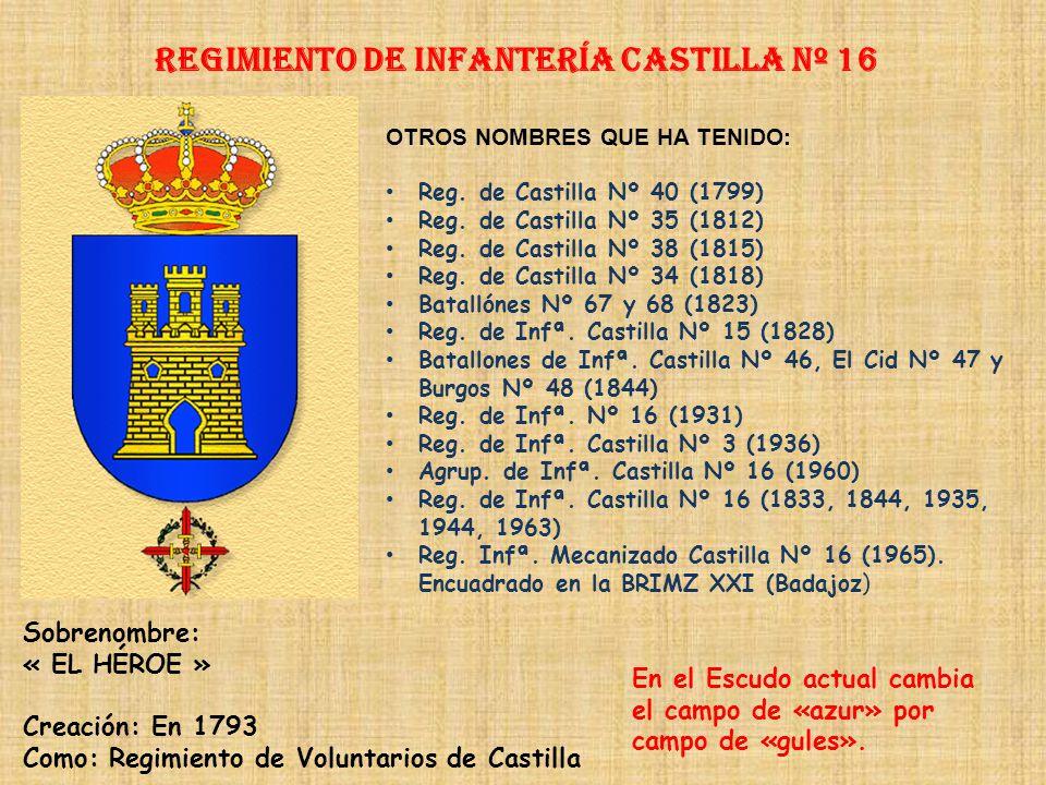 Regimiento de Infantería CASTILLA nº 16