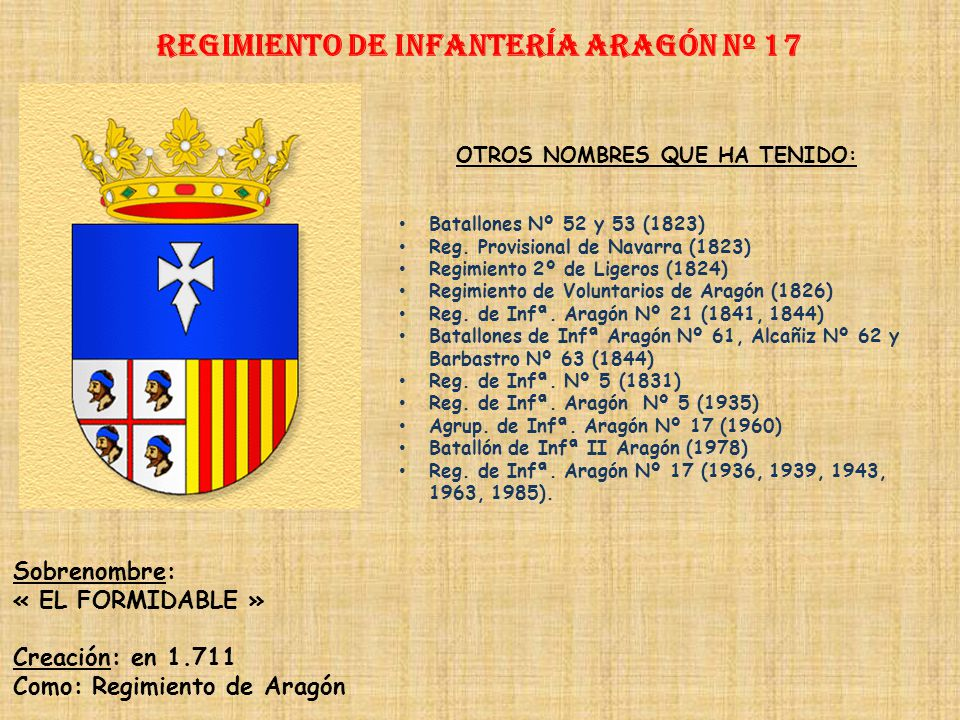 Regimiento de Infantería ARAGÓN nº 17