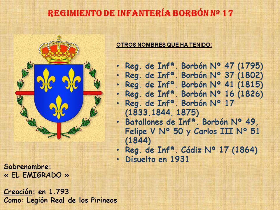 Regimiento de Infantería BORBÓN nº 17