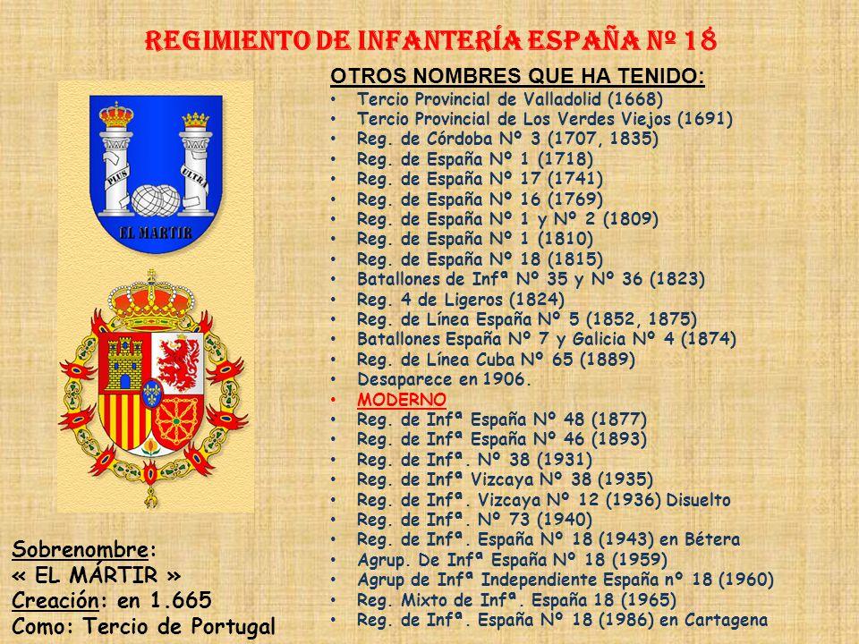 Regimiento de Infantería ESPAÑA nº 18