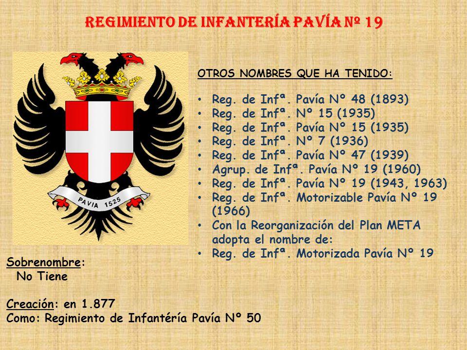 Regimiento de Infantería PAVÍA nº 19